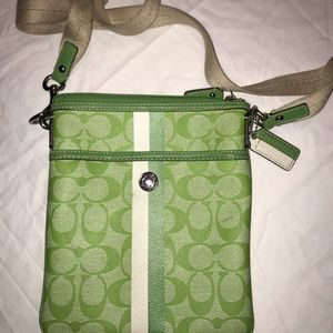 Coach key-Lime crossbody
